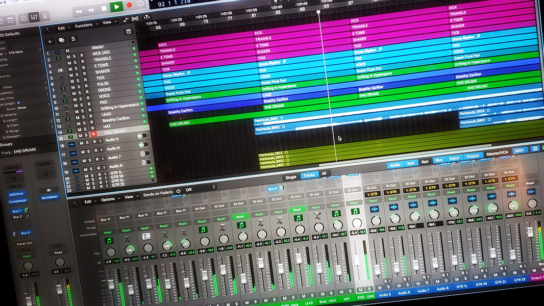 screenshot of a digital audio project